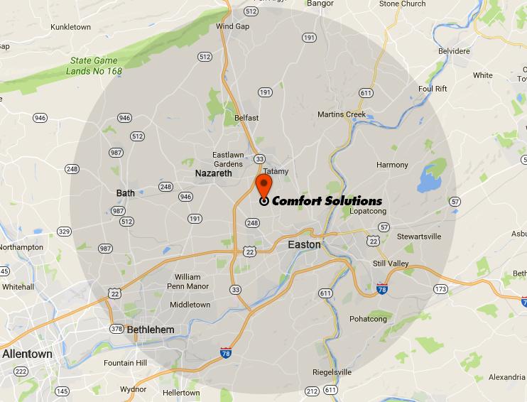 Comfort-Solutions-Service-Area-10-mile-radius-map